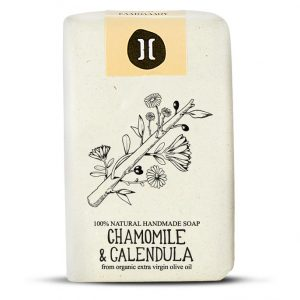 helleo chamomile and calendula handmade organic soap