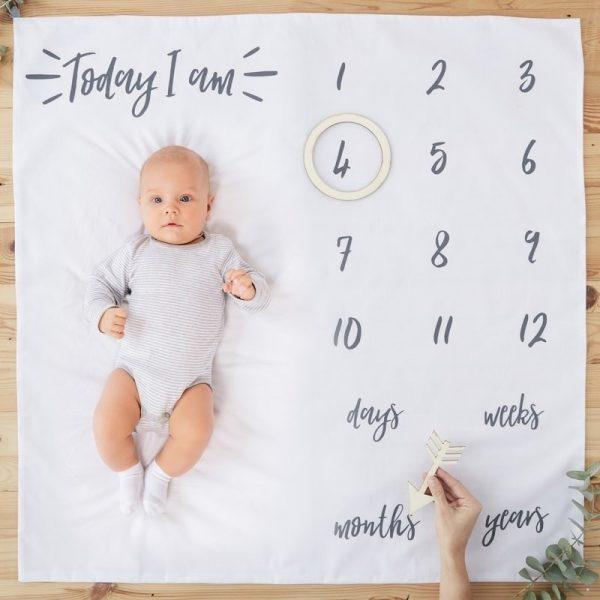 Baby Milestone blanket για φωτογράφιση του μωρού