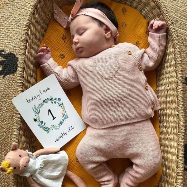 Baby Milestone Cards Eucalyptus Treat the Mama