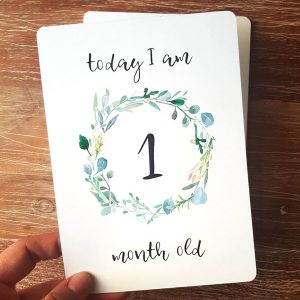 Baby Milestone Cards Treat the Mama
