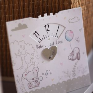 Hugs & Kisses Baby's Last Feed Card