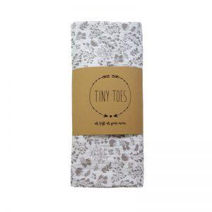 Tiny Toes Μουσελίνα Βαμβακερή Vintage Floral Grey