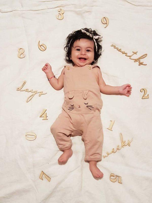 milestone ξύλινα νούμερα για την εγκυμοσύνη & το μωρό