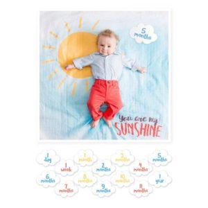 Lulujo Milestone Σεντονάκι Μωρού 'You are my Sunshine'