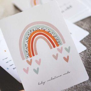 Baby Milestone Cards Rainbow