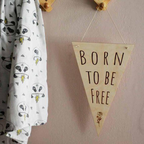 Pastel Kate Σημαιάκι 'Born to be Free'