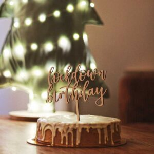 Lockdown Birthday Cake Topper