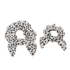 Lulujo Mommy + Me Scrunchies –Leopard