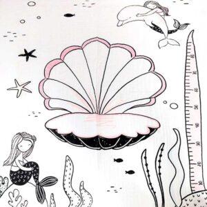 Minene Milestone Σεντονάκι Μωρού 'Mermaid'