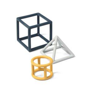 Babyono Γεωμετρικό Ορθοδοντικό Mασητικό Σιλικόνης (3τμχ)