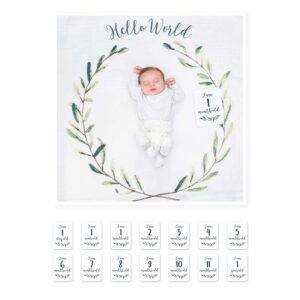 Lulujo Milestone Σεντονάκι Μωρού 'Hello World'