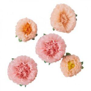 Χάρτινα Διακοσμητικά Λουλούδια 6 τμχ