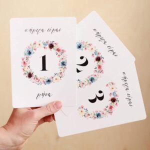 Baby Milestone Cards Spring Flowers