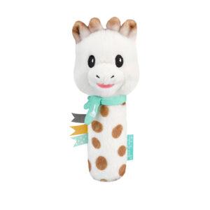 Sophie La Girafe Βελούδινη Κουδουνίστρα με Αστείους Ήχους